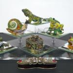 Cloisonne Animal Boxes